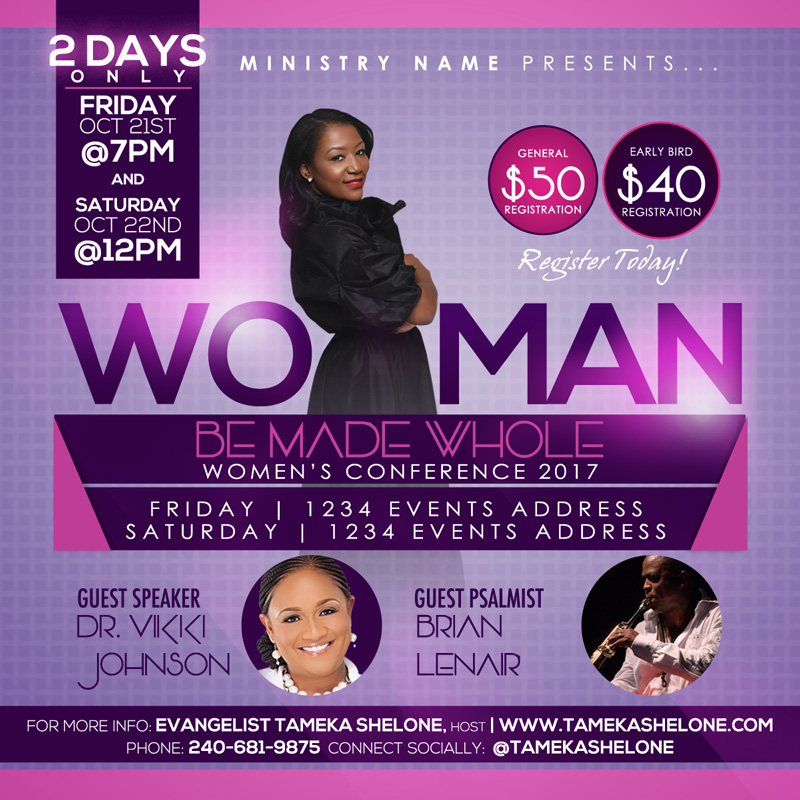 women u2019s conference flyer design  u2013 raiona denise